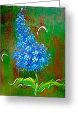 The Blue Flower Greeting Card