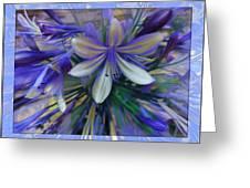 The Blue Flowers Of Melanie  Greeting Card