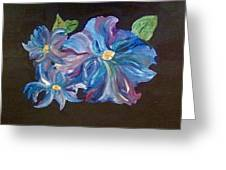 The Blue Flowers Greeting Card