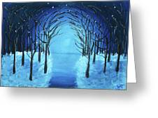 The Blue Forest Greeting Card