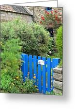 The Blue Gate Greeting Card