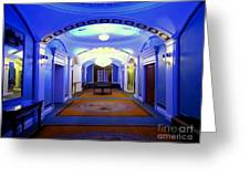 The Blue Hallway Greeting Card