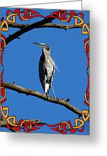 The Blue Heron Claimed He Was Framed Greeting Card
