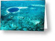 The Blue Hole Greeting Card