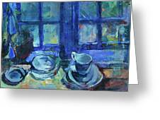 The Blue Kitchen Greeting Card