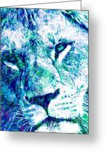 The Blue Lion Greeting Card