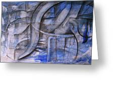 The Blue Machine Greeting Card