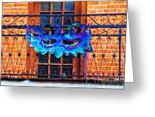 The Blue Mask Greeting Card