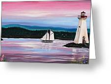 The Blue Nose II At Baddeck Nova Scotia Greeting Card