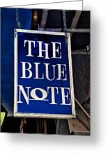 The Blue Note - Bourbon Street Greeting Card