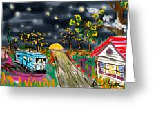 The Blue Trailer Greeting Card