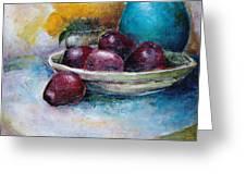 The Blue Vase Iv Greeting Card