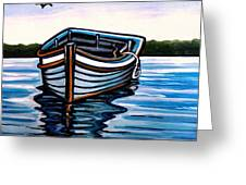 The Blue Wooden Boat Greeting Card
