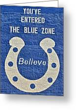 The Blue Zone Greeting Card