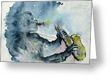 The  Blues In The Night Greeting Card