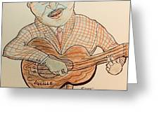 The Blues Man  Greeting Card