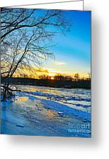 The Blues Of Winter Greeting Card