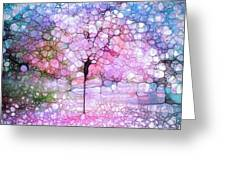 The Blushing Tree In Bloom Greeting Card