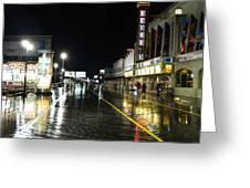 The Boardwalk At Night Greeting Card