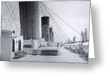 The Boat Deck Of The Titanic Greeting Card