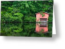 The Boat House At Desoto Falls Greeting Card