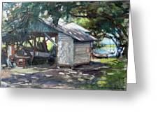 The Boathouse At Historic Spanish Point Park, Osprey, Fl Greeting Card