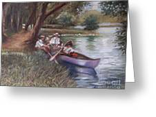 The Boating Men Greeting Card