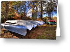 The Boats At Woodcraft Camp Greeting Card