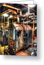 The Boiler Room Greeting Card by Michael Garyet