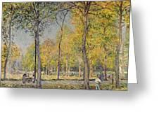 The Bois De Boulogne Greeting Card