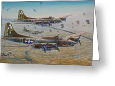The Bomb Run Over Schwienfurt Greeting Card