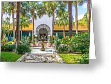 The Bonnet House - Interior Garden Greeting Card