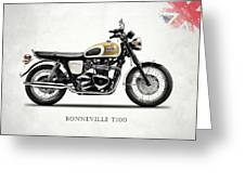 The Bonneville T100 Greeting Card