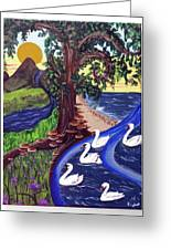 The Bonny Swans Greeting Card