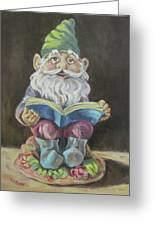 The Book Gnome Greeting Card