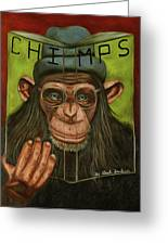 The Book Of Chimps Greeting Card