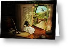 The Book Of Secrets Greeting Card