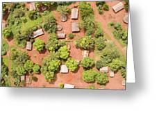 The Border Town Village Of Bangassou Greeting Card