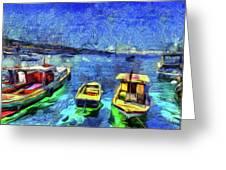 The Bosphorus Istanbul Art Greeting Card
