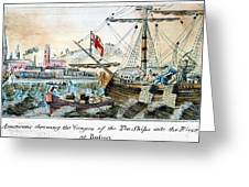 The Boston Tea Party, 1773 Greeting Card