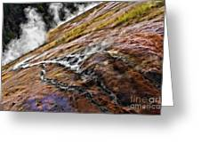 The Bottom Of Midway Geyser Basin Greeting Card