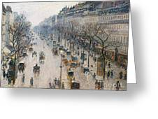 The Boulevard Montmartre On A Winter Morning, 1897  Greeting Card