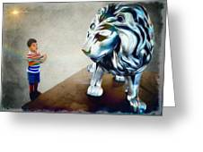 The Boy And The Lion 10 Greeting Card
