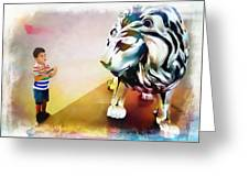 The Boy And The Lion 11 Greeting Card