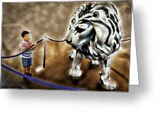 The Boy And The Lion 13 Greeting Card