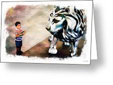 The Boy And The Lion 9 Greeting Card