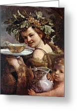 The Boy Bacchus 1620 Greeting Card