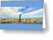 The Boy On The Seahorse Pano Greeting Card