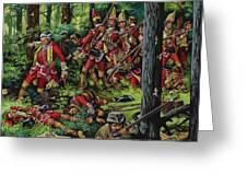 The Braddock Massacre Greeting Card