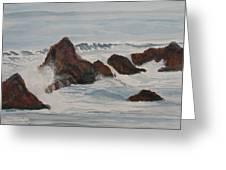 The Breakers At Seal Rock II Greeting Card